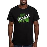 Green Shamrock Shamrock Men's Fitted T-Shirt (dark