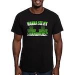 Wanna See My Shamrocks Men's Fitted T-Shirt (dark)
