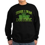 Irish I Was Drunk Shamrock Sweatshirt (dark)