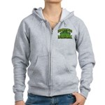 Irish I Was Drunk Shamrock Women's Zip Hoodie