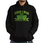 Irish I Was Drunk Shamrock Hoodie (dark)