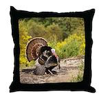 Wild Turkey Gobbler Throw Pillow