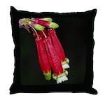 Flaming Firecracker Flowers Throw Pillow