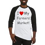 Heart Farmers Market Baseball Jersey