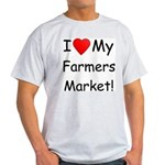 Heart Farmers Market Ash Grey T-Shirt