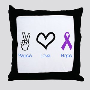 Peace Love Hope Throw Pillow