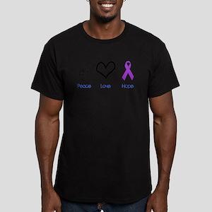 Peace Love Hope Men's Fitted T-Shirt (dark)