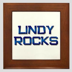 lindy rocks Framed Tile