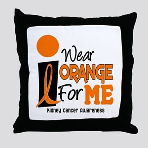 I Wear Orange For Me 9 KC Throw Pillow