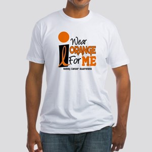 I Wear Orange For Me 9 KC Fitted T-Shirt