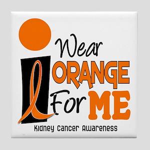 I Wear Orange For Me 9 KC Tile Coaster