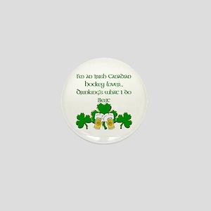 Irish Canadian Hockey Lover Mini Button