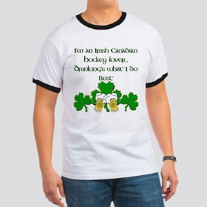 Irish Canadian Hockey Lover Ringer T