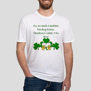 Irish Canadian Hockey Lover Fitted T-Shirt