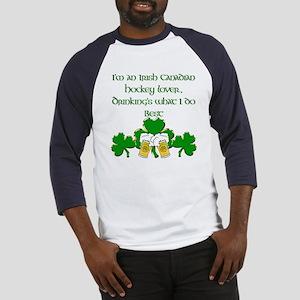 Irish Canadian Hockey Lover Baseball Jersey