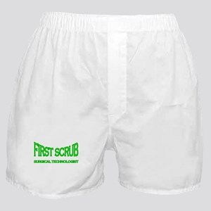 1st Scrub - green Boxer Shorts