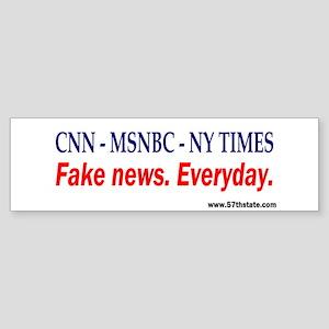 CNN - MSNBC - NY TIMES Bumper Sticker