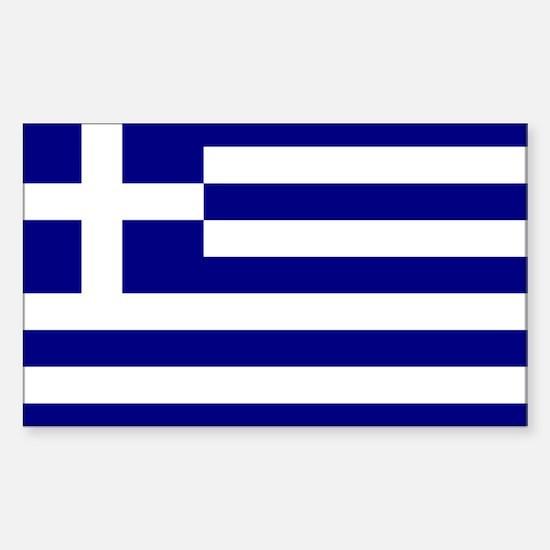 Greece Flag Rectangle Decal