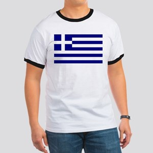 Greece Flag Ringer T