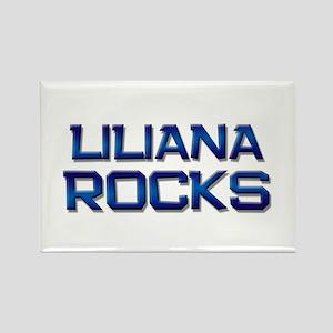 liliana rocks Rectangle Magnet