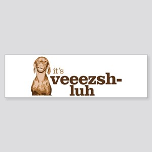 Say Vizsla Sticker (Bumper)