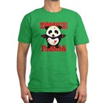 Zombie Panda Men's Fitted T-Shirt (dark)