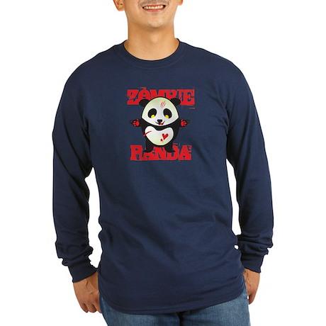 Zombie Panda Long Sleeve Dark T-Shirt