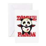 Zombie Panda Greeting Cards (Pk of 10)