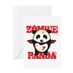 Zombie Panda Greeting Card