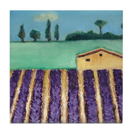 FRENCH LAVENDER Tile Coaster