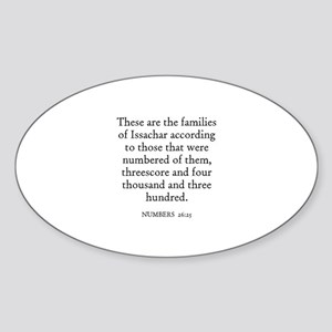 NUMBERS 26:25 Oval Sticker