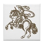 Knight on Horse Decorative Tile