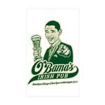 Obama's Irish Pub Rectangle Sticker 10 pk)