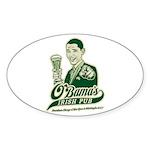 Obama's Irish Pub Oval Sticker (10 pk)