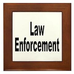 Law Enforcement Framed Tile