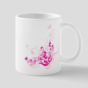 PINK SWIRLLY FLOWERS Mug
