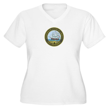 Seal of the Confederate Navy Women's Plus Size V-N