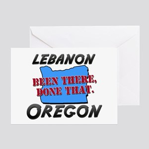 lebanon oregon - been there, done that Greeting Ca