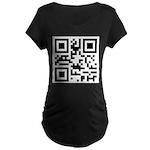 I AM PREGNANT QR code Maternity Dark T-Shirt