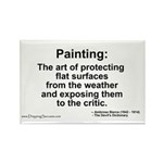 Painting: art of protecting... Rectangle Magnet