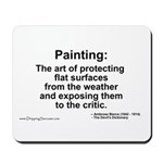Painting: art of protecting... Mousepad