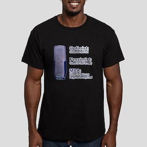MBA Half Full Men's Fitted T-Shirt (dark)