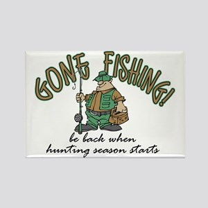 Gone Fishing - Hunting Season Rectangle Magnet