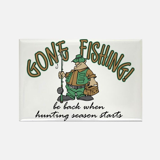Gone Fishing - Hunting Season Rectangle Magnet