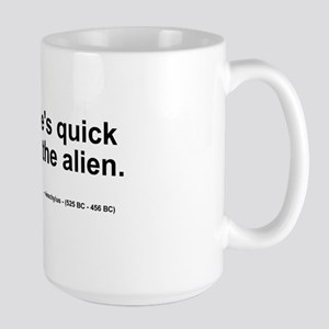 Quick to blame the alien - Large Mug
