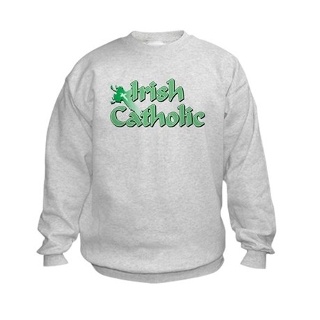 Irish Catholic Cross Kids Sweatshirt