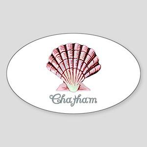 Chatham Shell Oval Sticker