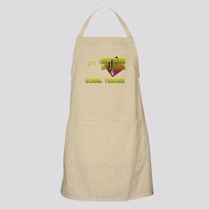 Retired School Teacher . BBQ Apron