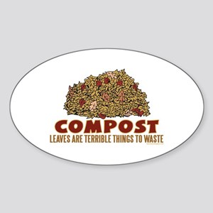 Composting Oval Sticker