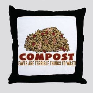 Composting Throw Pillow